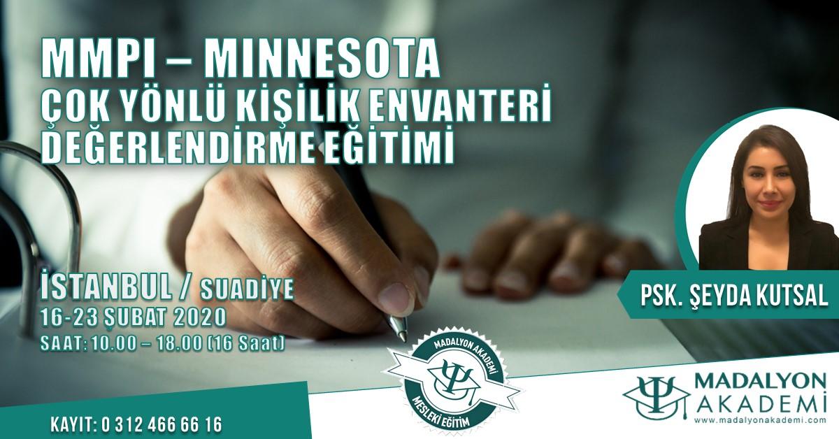 MMPI- Minnesota Çok Yönlü Kişilik Envanteri Değerlendirme Eğitimi İSTANBUL